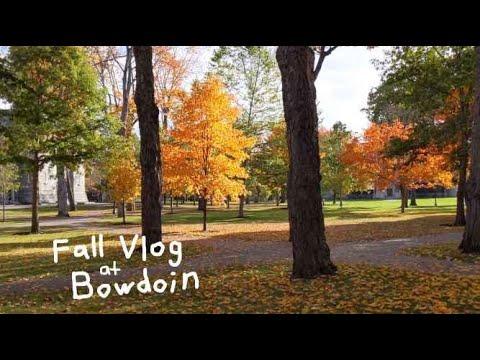 fall break vlog at bowdoin college