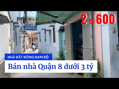 Chính chủ bán nhà Quận 8 dưới 3 tỷ, đường Phạm Thế Hiển P1 Q8, gần cầu Nguyễn Văn Cừ, qua Quận 5 chỉ 1 phút