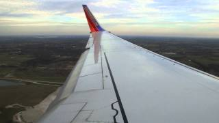 Southwest Airlines 737-7H4 Landing At Kansas City International Airport [MCI]