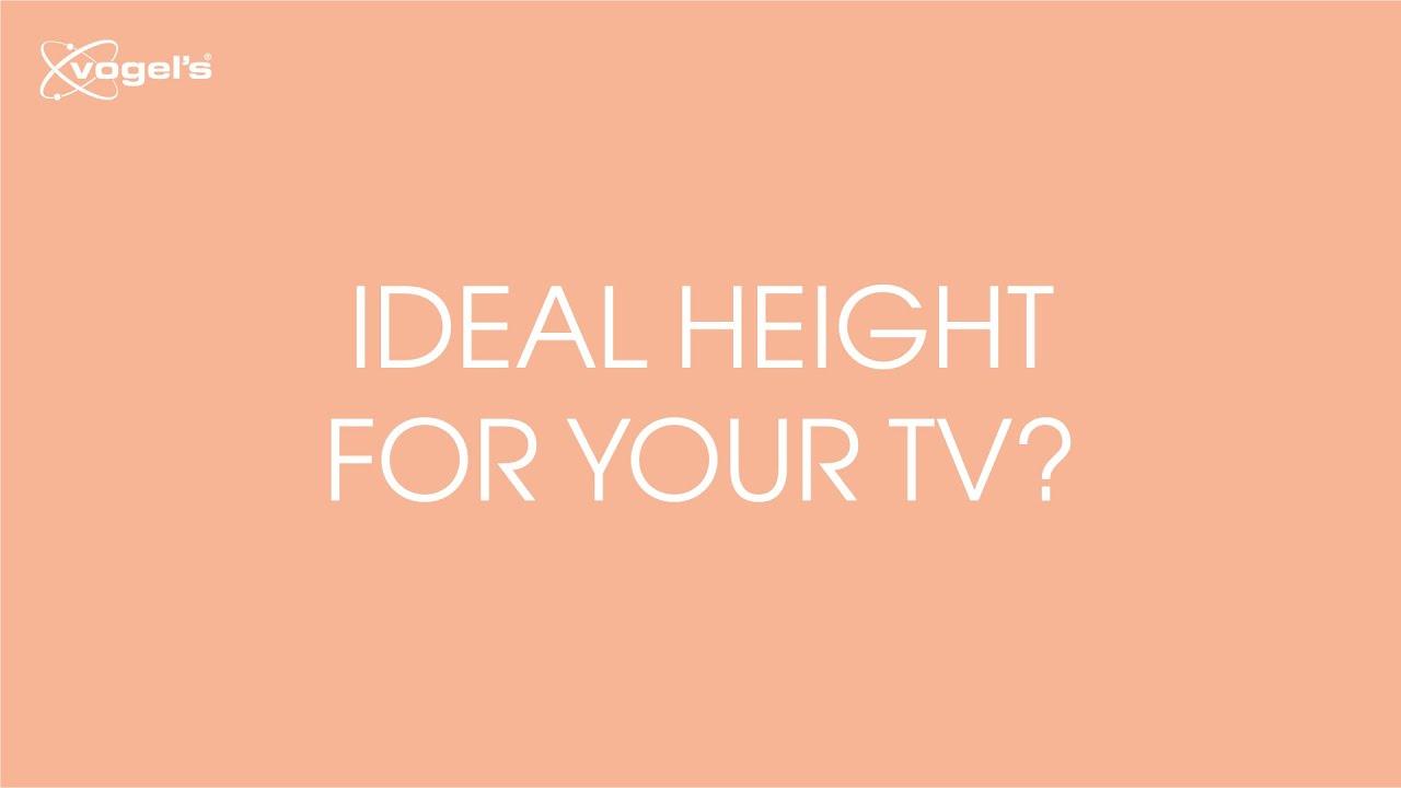 A Quelle Hauteur Mettre Une Tele Au Mur hauteur et distance idéales pour fixer votre téléviseur