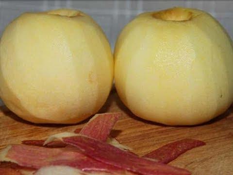 Как быстро очистить яблоки от кожуры