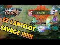 EPIC LANCELOT SAVAGE !!! - MLBB INDONESIA !!