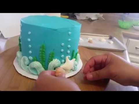Ocean Theme Cake. Beach Cake