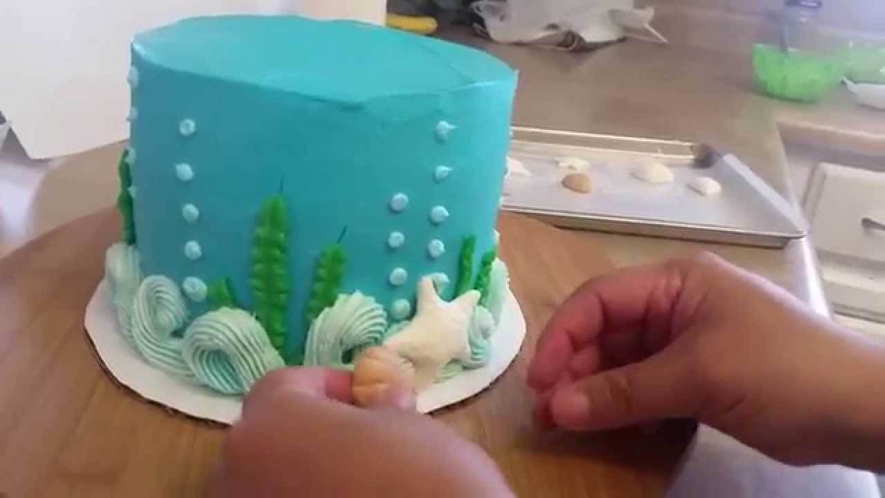 Ocean Theme Cake Beach Cake Youtube