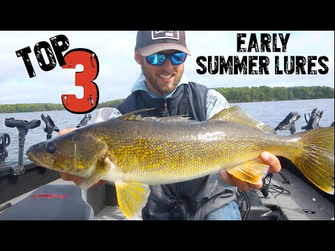 Top 3 Early Summer Walleye Fishing Lures