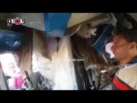 أول فيديو من داخل قطار الإسكندرية: دماء على مقاعد الاغلابة