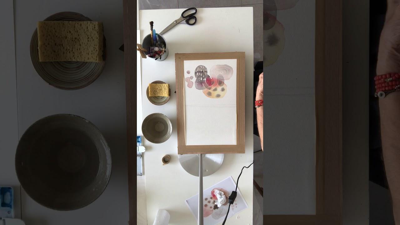 Initiation à L'aquarelle  étape trois