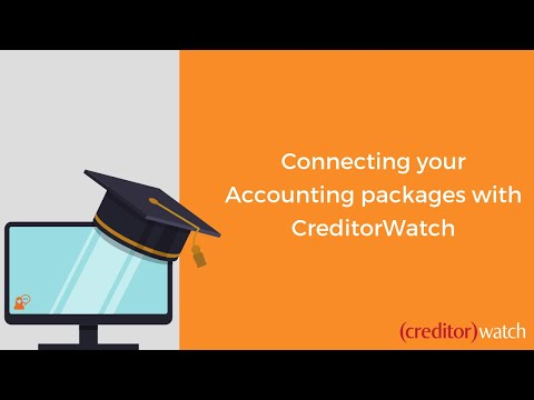 Connecting your Accounting packages with CreditorWatch