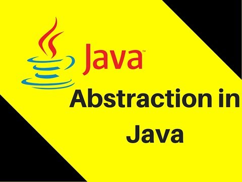 Abstraction in Java