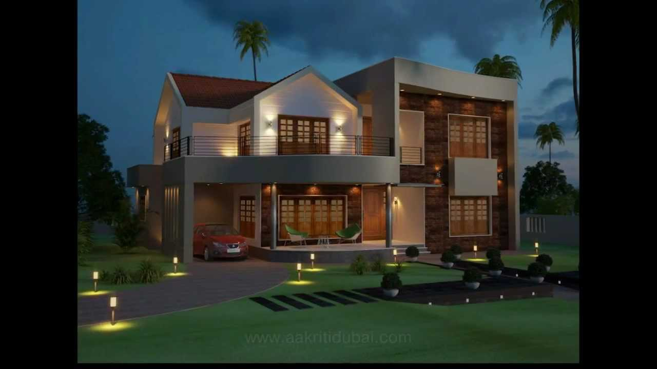 Beatiful kerala home contemporary youtube for Modern kerala style house plans with photos