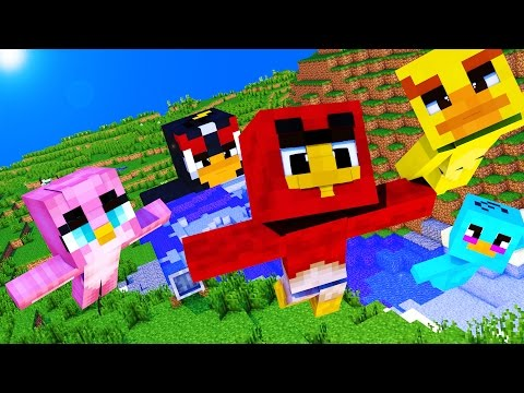 Minecraft - WHO'S YOUR DADDY? - BABY ANGRY BIRDS!