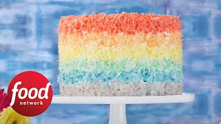 How to Make a Rainbow Cake | Spring Baking Championship Premieres Sunday at 9|8c | Food Network