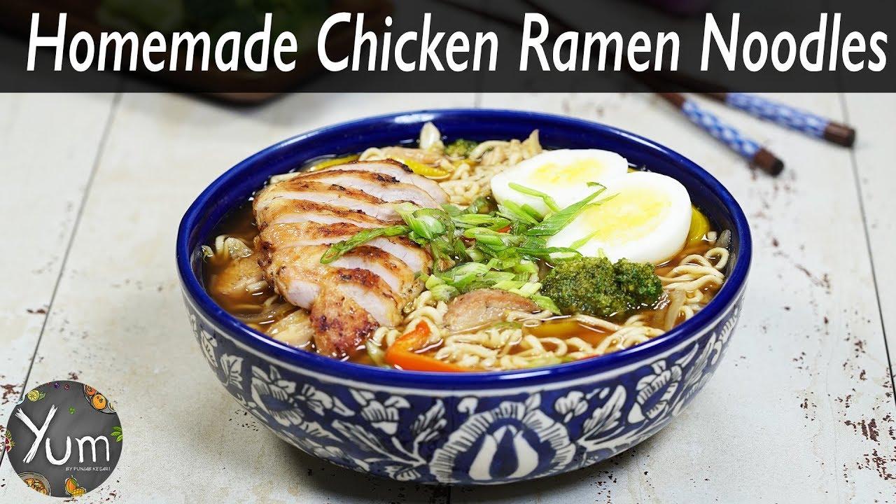 Homemade Chicken Ramen Noodles Youtube