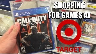 Fat Guy Shopping For Playstation 4 Video Games At Target! Black Ops 3, Star Wars And More!