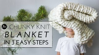Chunky knit | Throw in 3 EASY STEPS