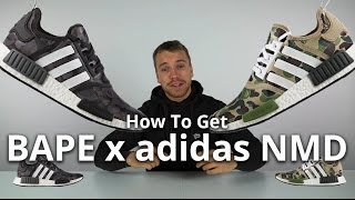 Video How To Get the adidas x BAPE NMD in the UK and Europe download MP3, 3GP, MP4, WEBM, AVI, FLV Juni 2018