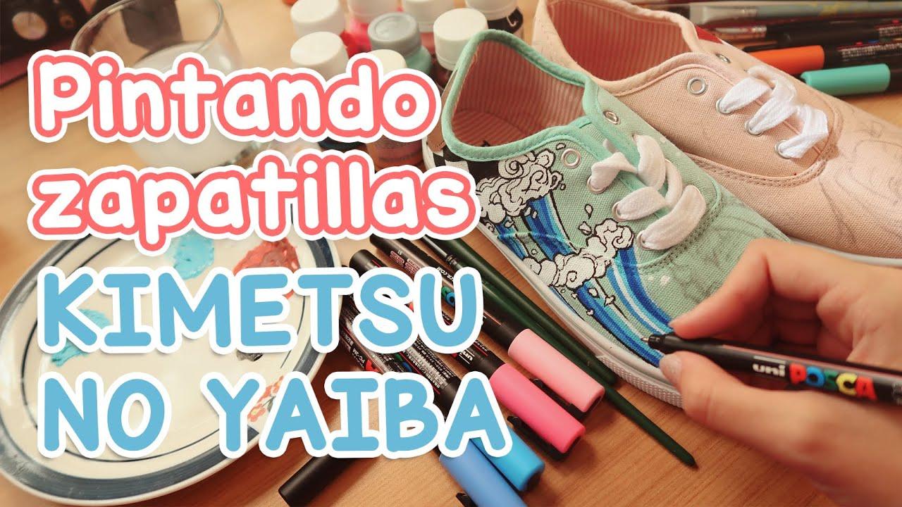 Pintando zapatillas de Kimetsu no Yaiba 👟🌊