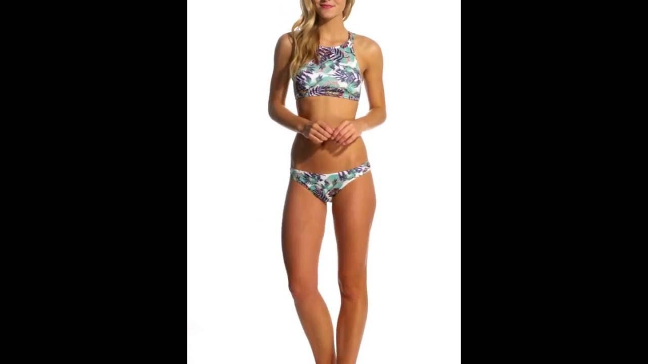5fa96276c4 Roxy Born Hawaiian 70's Bikini Bottom | SwimOutlet.com