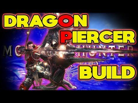 INSANE Dragon Piercer Build for Bow Monster Hunter World: MHW |