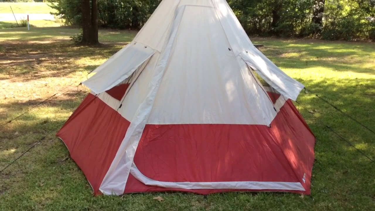 Ozark Trail 7 Person TeePee Tent Review & Ozark Trail 7 Person TeePee Tent Review - YouTube
