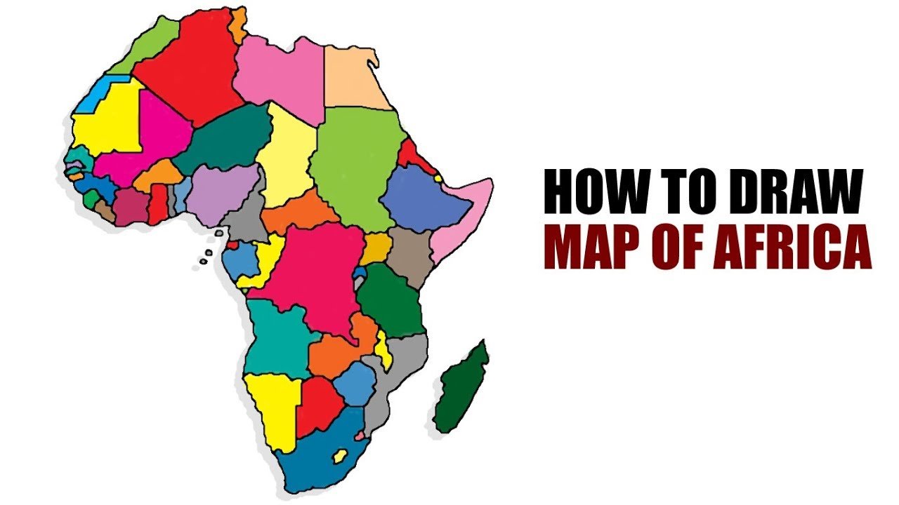 draw map of africa How To Draw Map Of Africa Africa Map Youtube draw map of africa