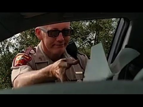 State Trooper Throws License