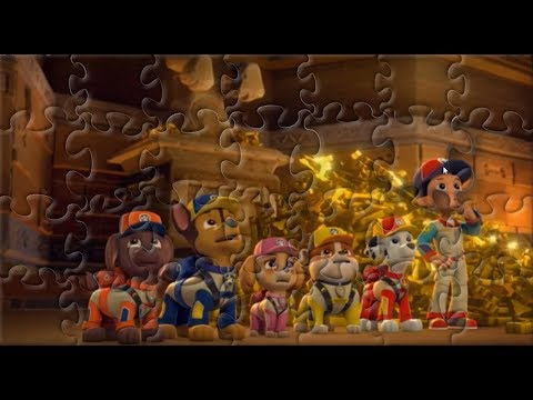 Seven Brave Puppies And Their Leader RYDER! PAW Patrol! Play Puzzle Video Game For Kids!