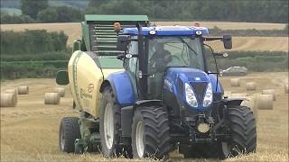 New Holland T7210 with Krone Comprima F 155 XC