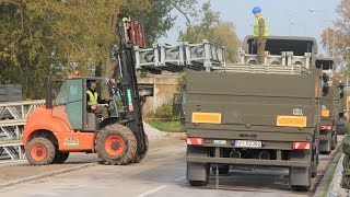 Wojsko buduje most na Narwi (cz. IV)