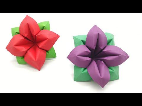 4 Petals Flower - DIY Origami Tutorial by Paper Folds - 990
