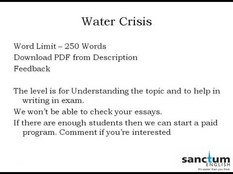 Essay Writing  Water Crisis  Ssc Cgl  Descriptive Writing  Sbi  Essay Writing  Water Crisis  Ssc Cgl  Descriptive Writing  Sbi Po Sample Argumentative Essay High School also Thesis Statement Example For Essays  How To Write Proposal Essay