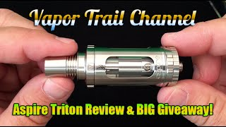 NEW Aspire Triton Sub Ohm Tank & BIG Giveaway! Preview Of Triton RBA Section