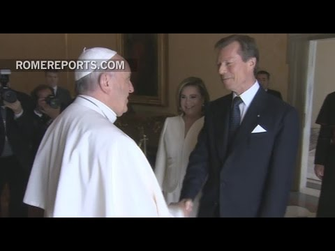 Royal family of Luxembourg visits Pope Francis