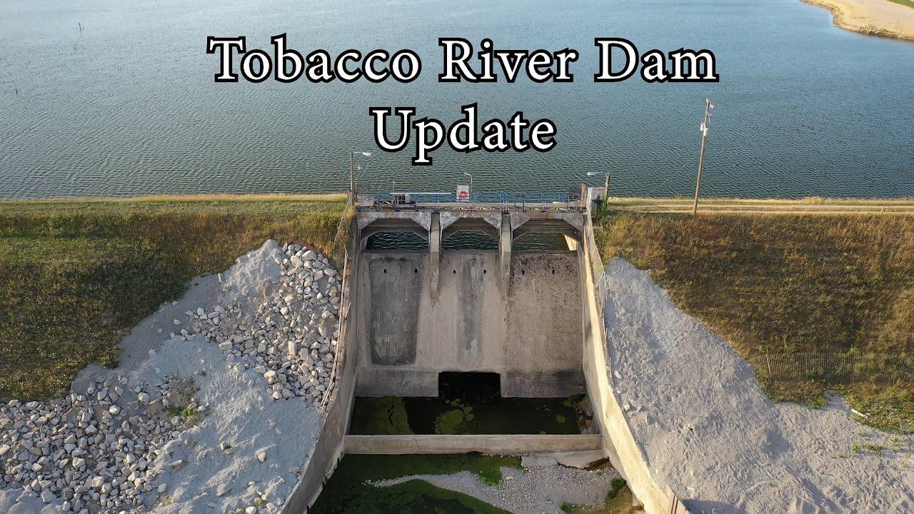 Update Tobacco River Dam Edenville Dam Wixom Lake Flood 2020 - Aerial