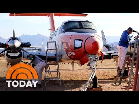 Visit The Plane Boneyard Where Military Aircraft Are Brought Back To Life | TODAY