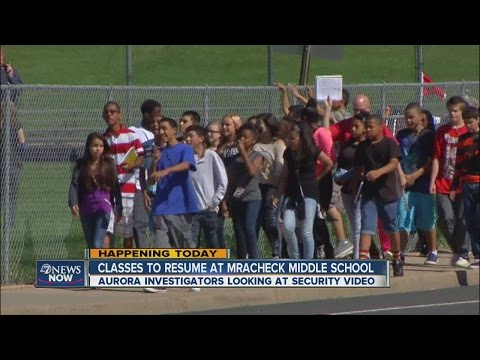 Classes resume at Mrachek Middle School