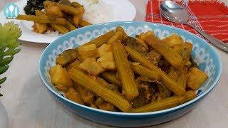 চ্যাপা শুটকি তরকারি রেসিপি | Drumstick Recipe | Sojne Data Dia Chepa Shutki Bangla Recipe.