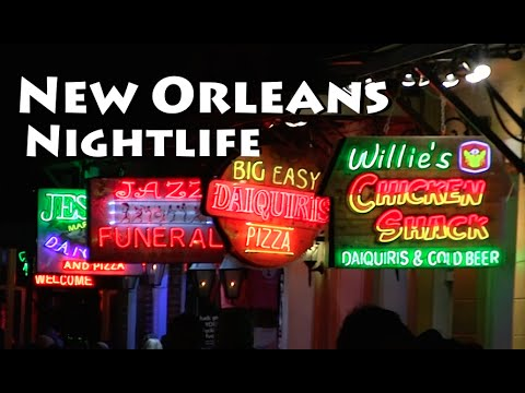 New Orleans Nightlife on Bourbon Street