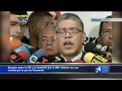 Reunión entre la CEV y la Comisión por la ANC culminó con una oración por la paz de Venezuela