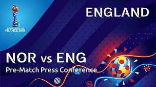 NOR v. ENG -  England Pre-Match Press Conference
