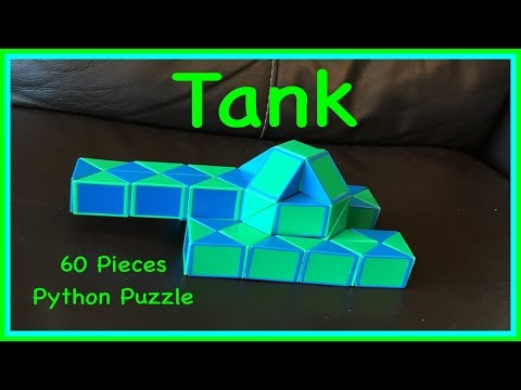 Smiggle Python Puzzle or Rubik's Twist 60 Tutorial: How to M