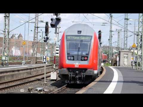 Züge im Düsseldorf Hbf , 2.5.2018 (4K)
