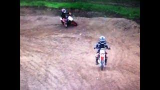 Kids motocross pw50 vs. KTM 50 watch till the end