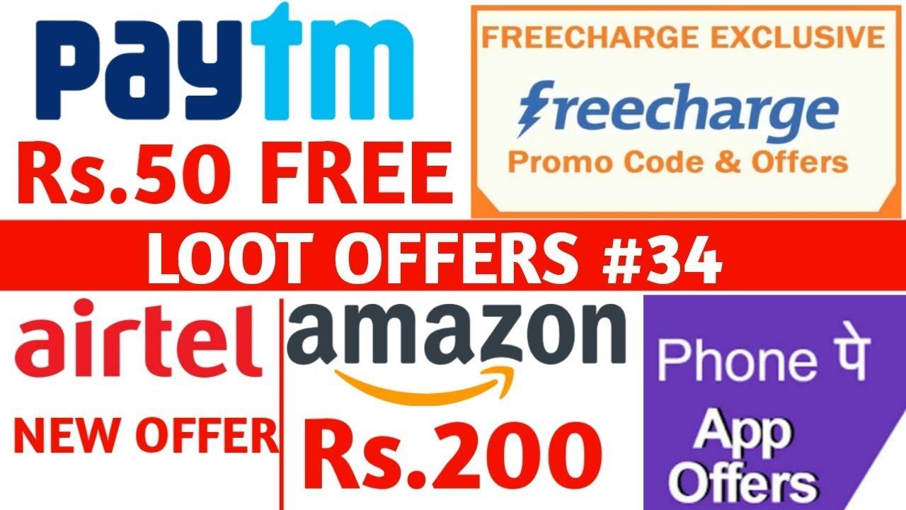 Paytm Rs 50 Promocode Freecharge Offer Zee5 Free Subscription Amazon