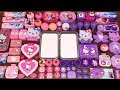 Special Series #34 PURPLE vs PINK ELSA and HELLO KITTY !! Mixing Random Things into GLOSSY Slime
