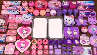 special-series-34-purple-vs-pink-elsa-and-hello-kitty-mixing-random-things-into-glossy-slime
