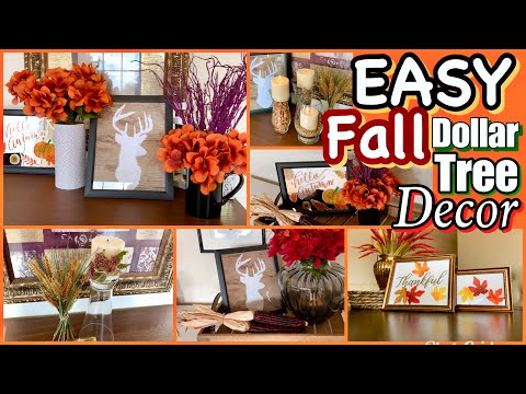 Dollar Tree FALL Home Decor DIYS
