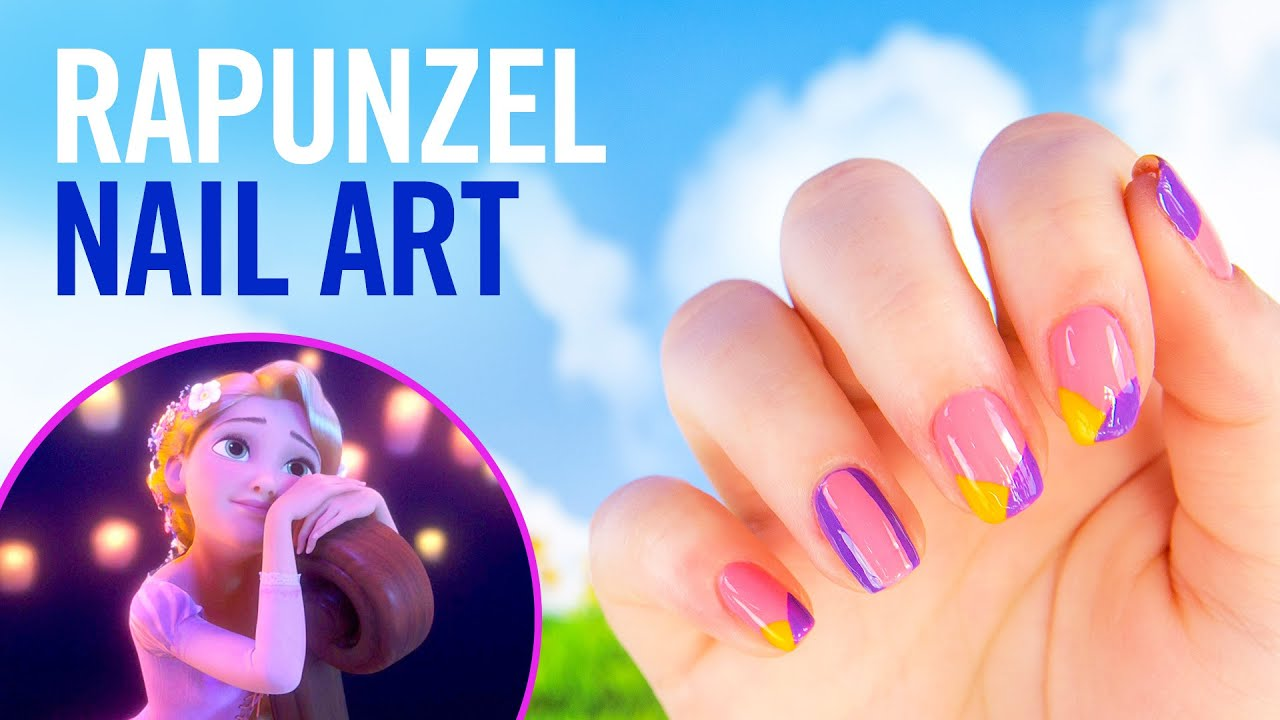Rapunzel colorblock nail art tutorial tips by disney style youtube prinsesfo Image collections