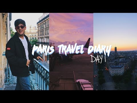 Paris Travel Diary Day 1 - Travel day and Climbing the Arc de Triomphe
