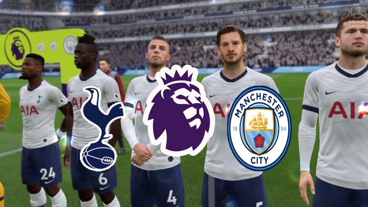 FIFA20 England Premier League Tottenham VS Manchester City ...